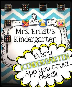 Sparkles, Smiles, and Successful Students: Every Kindergarten App you could need!