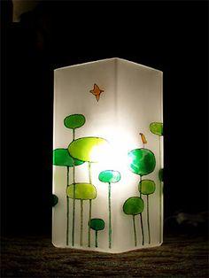 Painted IKEA Grono lamp.