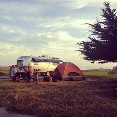 camping at Half Moon Bay
