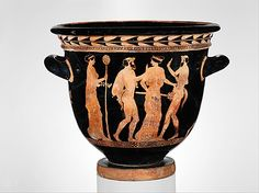 Terracotta bell-krater (bowl for mixing wine and water) Attributed to the…