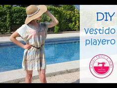 Vestido de verano reciclando un pañuelo o foulard - YouTube