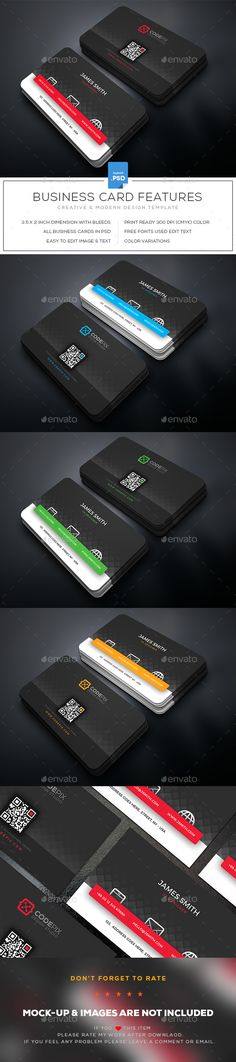 #Business #Card - Business Cards Print Templates Download here:  https://graphicriver.net/item/business-card/20027941?ref=alena994