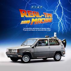 FIAT REAL-TIME MACHINE. La macchina del tempo in tempo reale. #DeLorean #BTTF Ritorno al futuro #Fiat #Panda