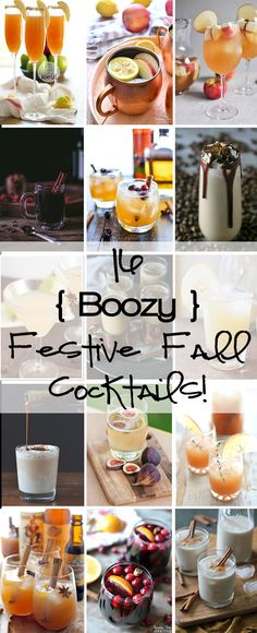 Everything from Apple Cider Mimosas, to boozy Pumpkin White Hot Chocolate to Cranberry Orange Sangria