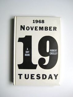 A Day Book by Robert Creeley, cover by Robert Indiana, 1972