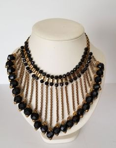 Gorgeous Art Deco Victorian Catwalk Bib Necklace Vintage Jewellery Gift for her