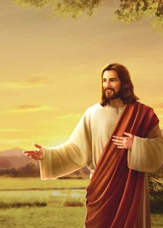 """""""I and my Father are one,"""" said the Lord Jesus, but He called God in heaven by the name of Father as He prayed. Is the Lord Jesus the Son or the Father? Spiritual People, Spiritual Images, Arte Lds, Bible Photos, Jesus Second Coming, Pictures Of Jesus Christ, Faith In God, True Faith, Christian Films"""