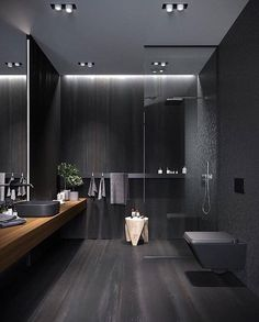 #Black #bathroom #interiordesign