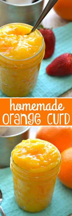Homemade Orange Curd - made with just 6 ingredients and such a delicious addition to your favorite recipes! Have you ever noticed how things always seem to take WAY longer than you think they should? Jam Recipes, Canning Recipes, Dessert Recipes, Orange Recipes Baking, Chutneys, Do It Yourself Food, Salsa Dulce, Jam And Jelly, Cake Fillings