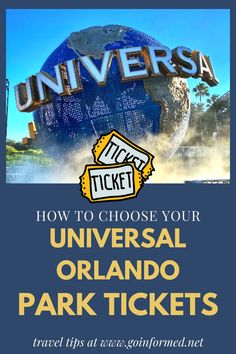Don't wait to learn about Universal Orlando park tickets. Step-by-step instructions to help you plan your park days and get those perfect tix! Orlando Vacation, Orlando Resorts, Florida Vacation, Walt Disney World Vacations, Best Vacations, Vacation Destinations, Universal Studios Florida, Universal Orlando, Orlando Theme Parks