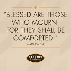 Praying for those in mourning.