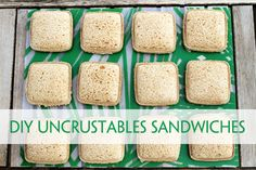 DIY Uncrustables Frozen Peanut Butter & Jelly Sandwiches: The sandwich cutter works well. Bread Brands, Sandwiches, Lunch Snacks, Lunch Box, Healthy Lunches, Bento Box, Lunch Time, Good Food, Yummy Food