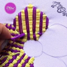Hand Embroidery Patterns Flowers, Ribbon Embroidery Tutorial, Basic Embroidery Stitches, Hand Embroidery Videos, Embroidery Flowers Pattern, Creative Embroidery, Simple Embroidery, Hand Embroidery Designs, Bottle Necklace