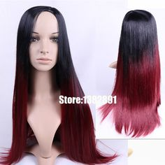 Cheap wig packaging, Buy Quality wig glue directly from China wig tape Suppliers:    Cheap Ombre Long Wavy Wig With Full Bangs Ombre Black to Brown/Burg Synthetic Hair Wigs for African American Fashion