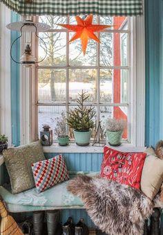 Fru Åberg's colourful front porch