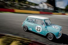 Austin Mini Cooper S by VJ Photography Sports Car Racing, Race Cars, Classic Mini, Classic Cars, Spa, Mini Cooper S, Dream Garage, Mini Me, Car Photos