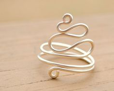 Wire Wrapped Ring Silver