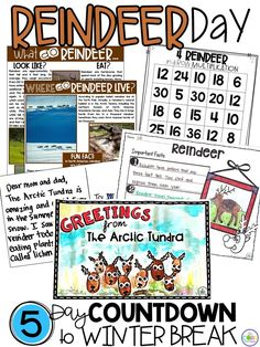 Tons of creative reading, writing, math and other reindeer activities. 5 non-holiday topics that will be sure to engage your antsy students during the week before their break.