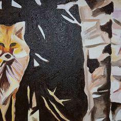 WIP Fox Sitting Near Birch 11in x 14in  First layer of acrylic applied to canvas.  www.camerondixon.com  #fox #art #fineart#artofinstagram #contemporaryart #modernart #love #commissionedartist #artforsale #instagood #acrylicpainting #painting #nyc #newyork #igart #instadaily #artoftheday #artistic  #orange #redfox #naturepainting #canadianartist #newyorkcity #manhatten #picoftheday #artoftheday #photooftheday #wildlife