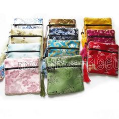 1ce2877c0bbc Chinese Style Brocade Embroidery Jewelry Bags Coin Purse With Zipper x Bags)