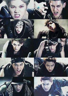 #Exo #wolf awoooooo