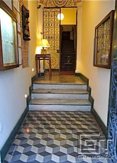 granada tile entry | These worn but intriguing historic Brazilian cement tiles grace the ...