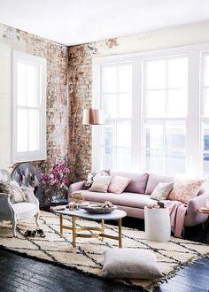 ✨✨The brick! Dazzling Purple Living Room Designs | Tags: purple living room walls, purple living room color scheme, purple living room ideas, pink purple living room