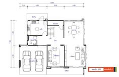 House design plan with 3 bedrooms. Style ModernHouse description:Number of floors 2 storey housebedroom 3 roomstoilet 3 roomsmaid's room Modern House Plans, Small House Plans, House Floor Plans, Bungalow House Design, Modern House Design, Circle House, Two Bedroom House, Architectural House Plans, Two Storey House