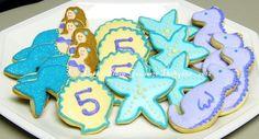 Mermaid Birthday Party Cookies