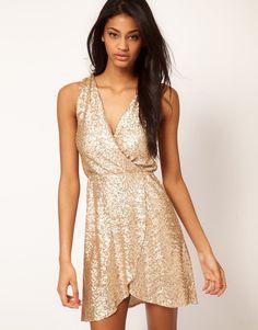 TFNC Dress Cross Front in Sequin $36.58