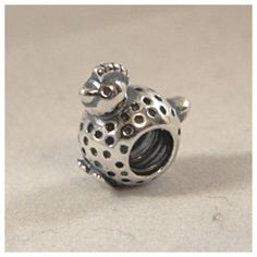 Authentic Pandora Chicken Little Bead Charm 925 by JCNormsJewelry, $27.00