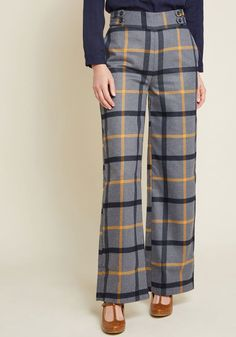 e4a137d7423 Put Fab First Wide-Leg Pants in S - Wide Pant Long by ModCloth Fall