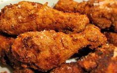 6 chicken legs  1 cup all-purpose flour  1/2 teaspoon salt  1 tablespoon seasoned salt (I use Lawry's Seasoned Salt)...  3/4 te...