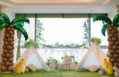 Jungle themed children's birthday party, Sweet Soirées, Hong Kong #hongkong #jungle #party