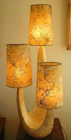 Great plaster lamp. It comes in a two shade variety.