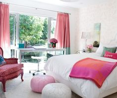 two tone drapery, pink