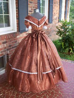 copper & silver civil war ball gown