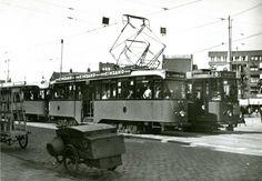 Keerlus Rotterdamsedijk Schiedam, lijnen 4 en 8, 30-8-1948