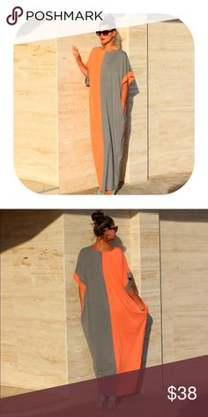 🎉 comingsoon🎉 double color long dress Brand new with tag. Get 15% off when you buy two or more. It will be coming in in around 2 weeks. If you would like to get notified, simply press like or leave me a message. I will let you know. Dresses Maxi