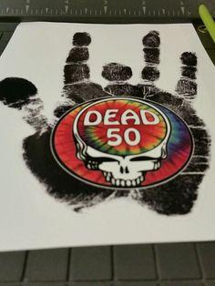 "Grateful Dead 50 fare thee well Steal Your Face Jerry Garcia Hand Sticker 6"" #dead50 #faretheewell #sticker #gratefuldead #jerryhand"