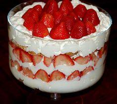 Strawberry Shortcake Trifle..Mmmmmmm
