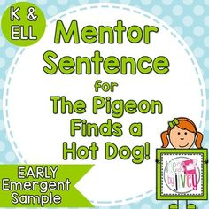Implementing Mentor Sentences with Emergent Readers - Ideas By Jivey: For the Classroom