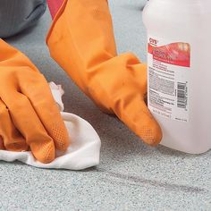 Remove Tough Stains from Vinyl Flooring - Provided by The Family Handyman Cleaning Solutions, Cleaning Hacks, Cleaning Checklist, Cleaning Recipes, Hacks Diy, Cleaning Products, Cleaning Supplies, Vinyl Floor Cleaners, Cleaning Vinyl Floors