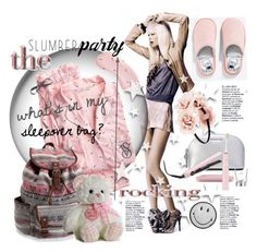 """Sleep on It! Slumber Party Style"" by betiboop8 ❤ liked on Polyvore featuring Pijama, Victoria's Secret, Aéropostale, Anya Hindmarch, MICHAEL Michael Kors, Philips Sonicare, GHD, Forever 21 and slumberparty"
