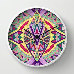 Abstract Journey Wall Clock #tribal #mandala #geometric #home #decor #homedecor #wallclock #decorideas #interiordesign #accentdecor