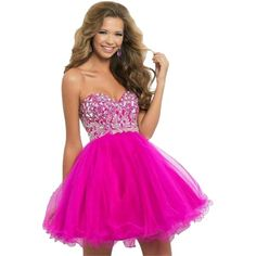 Pre-owned Blush Short Prom 9658 In Pink Size 10 Dress ($116) ❤ liked on Polyvore featuring dresses, shocking pink, pre owned prom dresses, pink prom dresses, pink dress, preowned dresses and blush dress