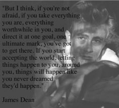 Who knew James Dean was so inspirational.