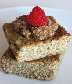Cinnamon Quinoa Bake: This sweet take on quinoa is perfect for breakfast or even a midmorning snack. It's even better with a dollop of nut butter and a cup of tea! You won't believe how easy it is to make this protein-packed treat.