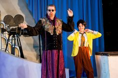 Shakespeare in Hollywood--Silicon Valley Shakespeare, Aug. 2015. Me as Oberon with Lucy Littlewood as Puck