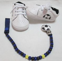 Scarpe sportive neonato/Scarpe neonato calcio Inter con Catenella portaciuccio